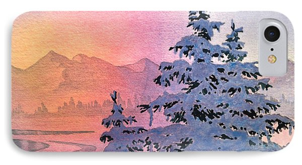 Winter Twilight Phone Case by Teresa Ascone