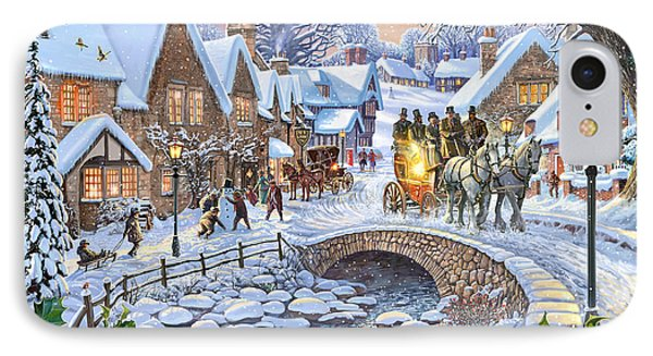 Winter Village Stream IPhone Case by Steve Crisp