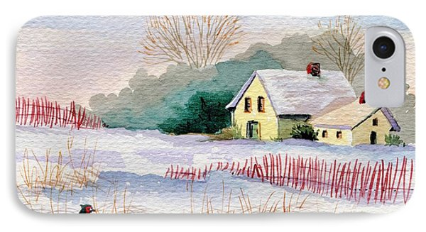 Winter Visitor IPhone Case by Marilyn Smith