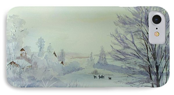 Winter Visitors IPhone Case
