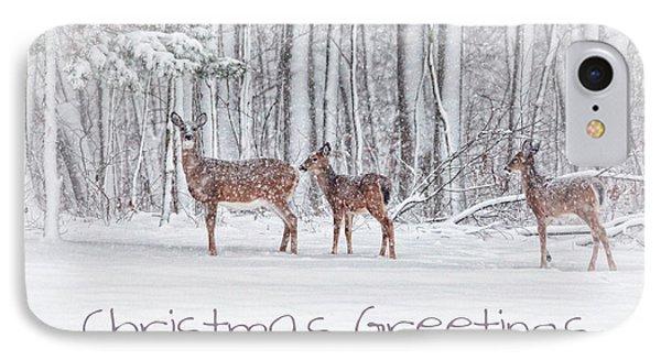 Winter Visits Card Phone Case by Karol Livote