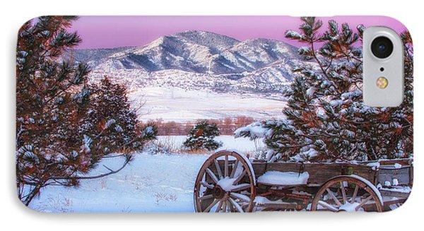 Winter Wagon IPhone Case by Darren  White