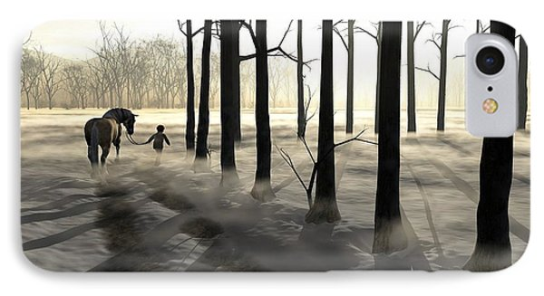 Winter Walk IPhone Case by Cynthia Decker