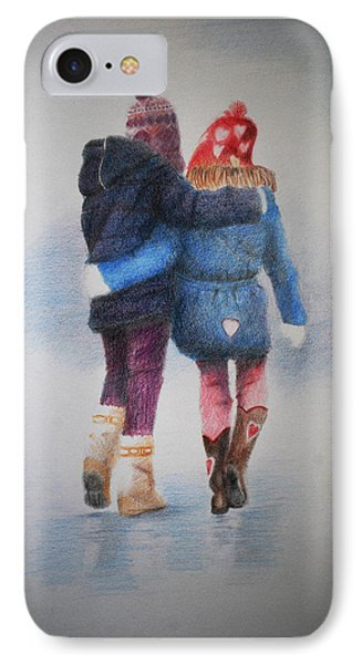 Winter Walk IPhone Case by Lynn Hughes