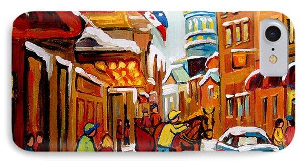 Winter Walk Montreal Phone Case by Carole Spandau