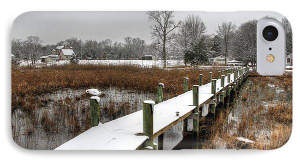 Winter Walkway IPhone Case by John Loreaux