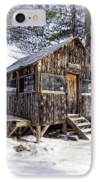 Winter Warming Hut Phone Case by Edward Fielding