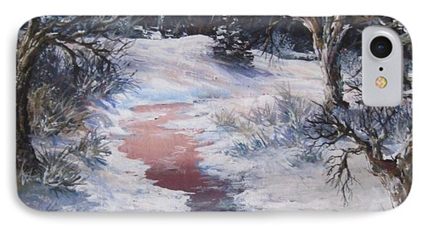 IPhone Case featuring the painting Winter Warmth by Megan Walsh