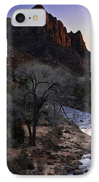 Winter Watchman Phone Case by Chad Dutson