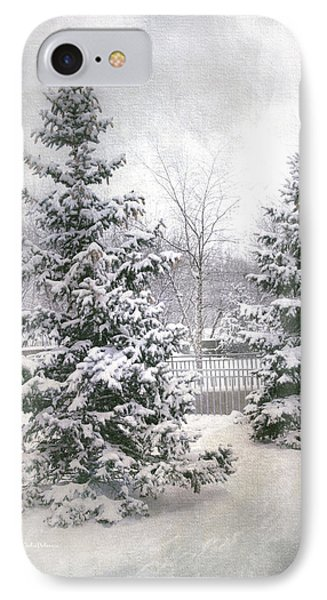 Winter White 2 IPhone Case by Julie Palencia