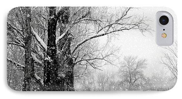 Winter White Season's Greetings Phone Case by Carol Groenen