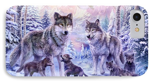 Winter Wolf Family  IPhone Case by Jan Patrik Krasny