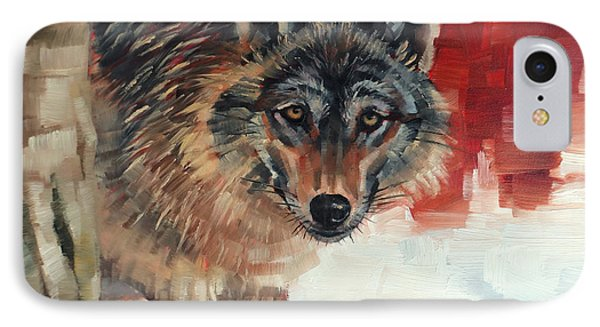 Winter Wolf IPhone Case by Margaret Stockdale