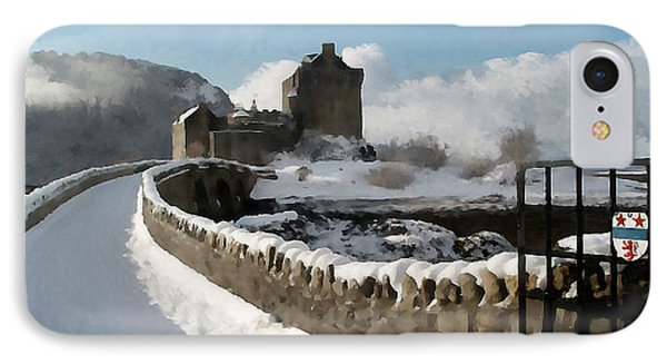 Winter Wonder Walkway IPhone Case by Bruce Nutting