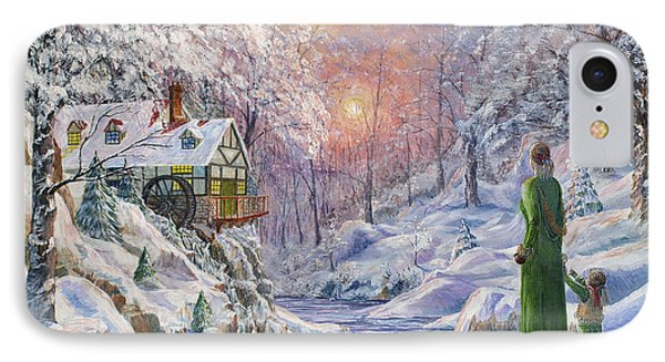 IPhone Case featuring the painting Winter Wonderland by Anthony Lyon