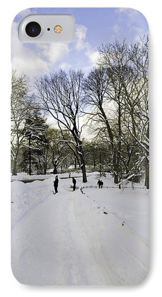 Winter Wonderland In Central Park - New York IPhone Case by Madeline Ellis