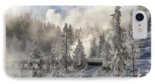Winter Wonderland - Yellowstone National Park Phone Case by Sandra Bronstein
