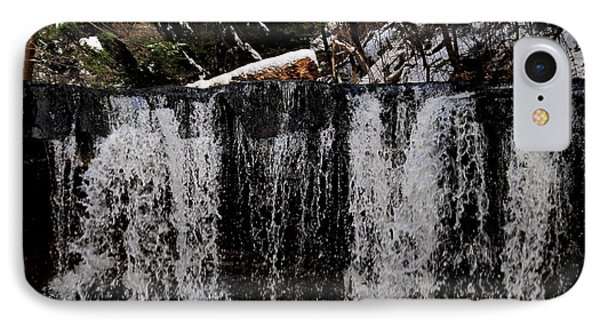 Winter Woodland Waterfall IPhone Case