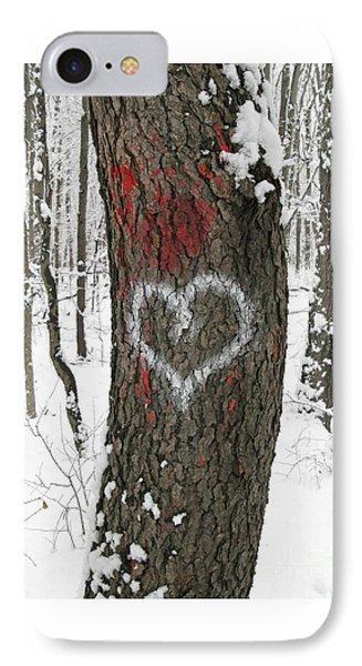 Winter Woods Romance Phone Case by Ann Horn