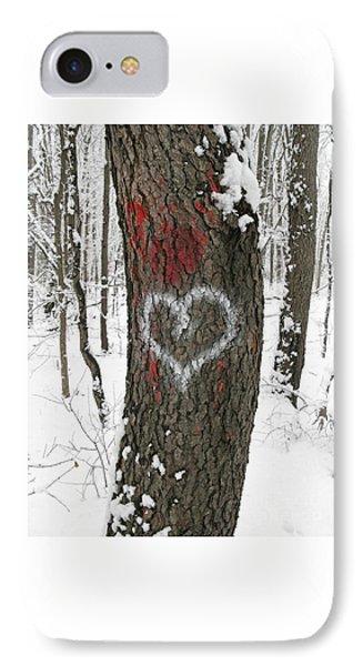 Winter Woods Romance IPhone Case by Ann Horn