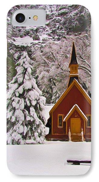 Winter Yosemite Chapel Phone Case by Heidi Smith