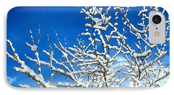IPhone Case featuring the painting Winter's Artistry by Barbara Jewell