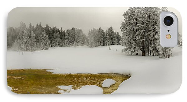 Winter's Contrast - Yellowstone National Park IPhone Case by Sandra Bronstein