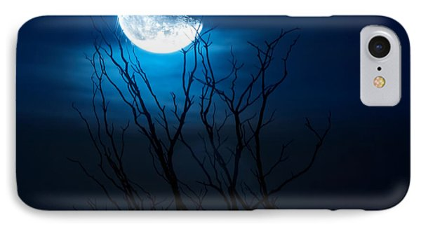 Winter's Eve Moon IPhone Case by Mark Andrew Thomas