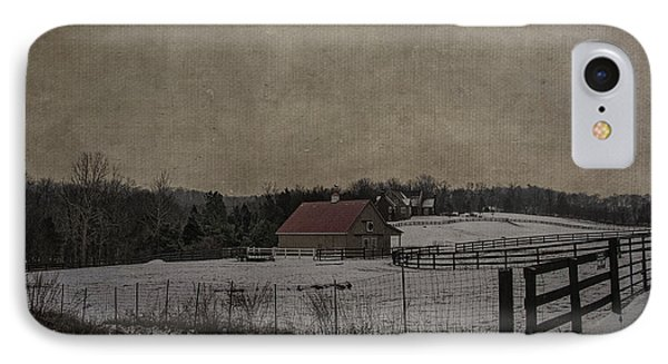 Winter's Farm Phone Case by Terry Rowe