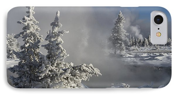 Winter's Glory - Yellowstone National Park Phone Case by Sandra Bronstein