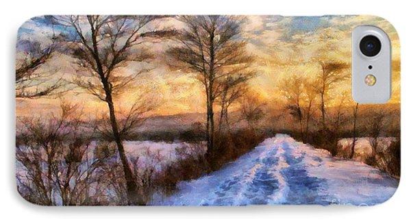 Winters Glow IPhone Case by Elizabeth Coats