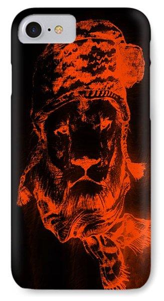 Winter's Lion Black Orange IPhone Case
