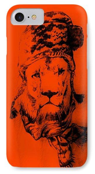 Winter's Lion Orange IPhone Case