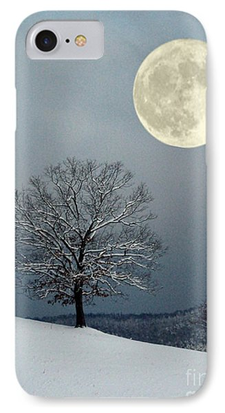 Winter's Moon IPhone Case by Laurinda Bowling
