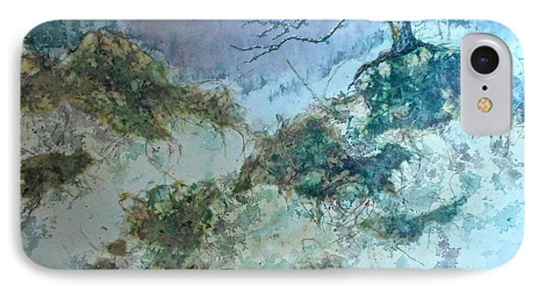IPhone Case featuring the painting Winter's Morn by Carolyn Rosenberger