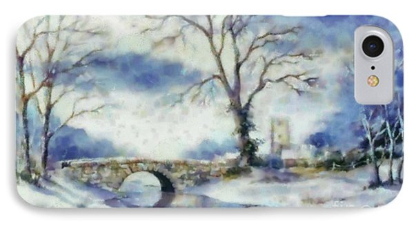 IPhone Case featuring the painting Winters River by Elizabeth Coats
