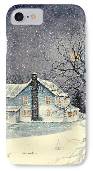 Winter's Silent Night Phone Case by Janine Riley