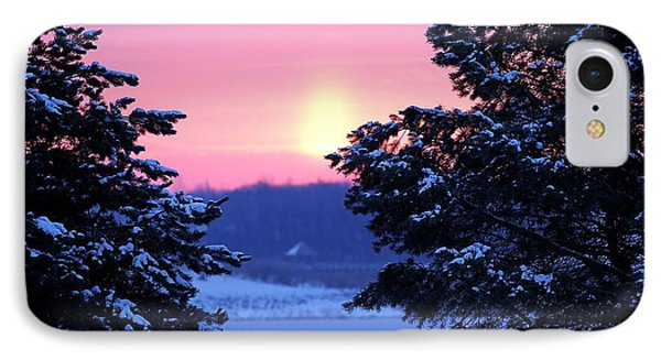 IPhone Case featuring the photograph Winter's Sunrise by Elizabeth Winter