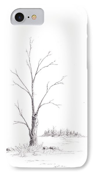 Winter's Tree IPhone Case by Steven Powers SMP