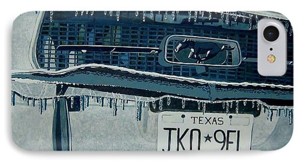 IPhone Case featuring the painting Winterschlaf Pferd by Jeffrey S Perrine