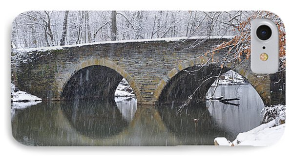 Wintertime At Bells Mill Road IPhone Case by Bill Cannon