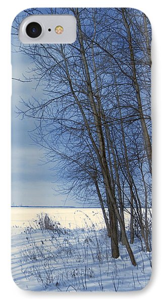 Wintertime At Sheldon Marsh IPhone Case by Shawna Rowe