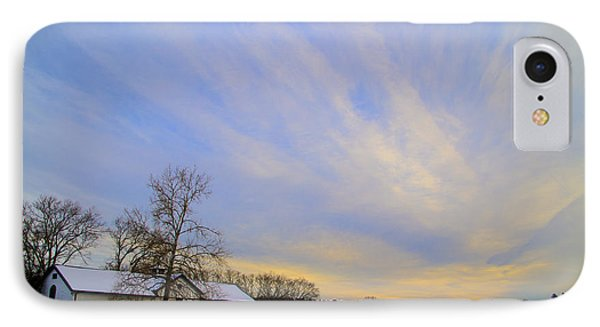 Wintertime At Widener Farms IPhone Case by Bill Cannon