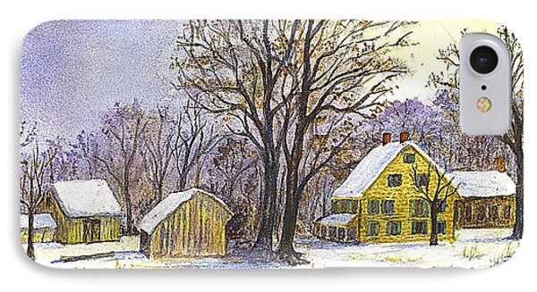 Wintertime In The Country Phone Case by Carol Wisniewski