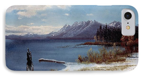 Wintertime Lake Tahoe In Winter The Sierra Nevada California IPhone Case