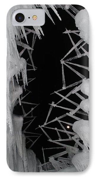 Wintery Ice Farming  IPhone Case