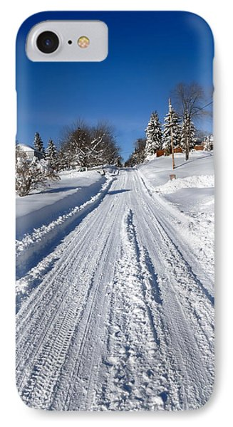 Wintery Road Phone Case by Amy Cicconi