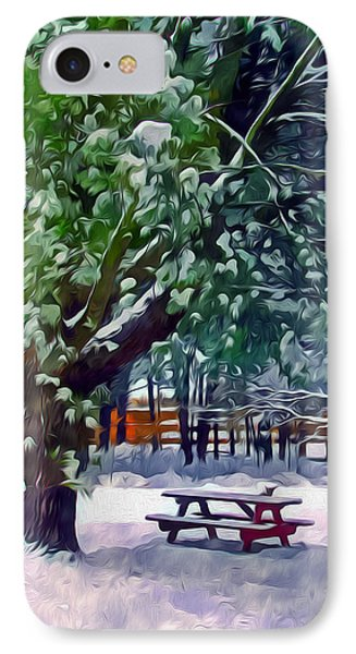 Wintry  Snowy Trees Phone Case by Lanjee Chee