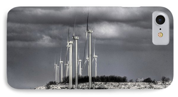 IPhone Case featuring the photograph Wintry Windmills by Jim Lepard