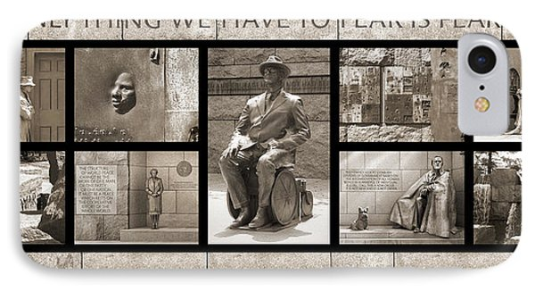 Wip - Fdr Memorial - Washington Dc IPhone Case by Mike McGlothlen